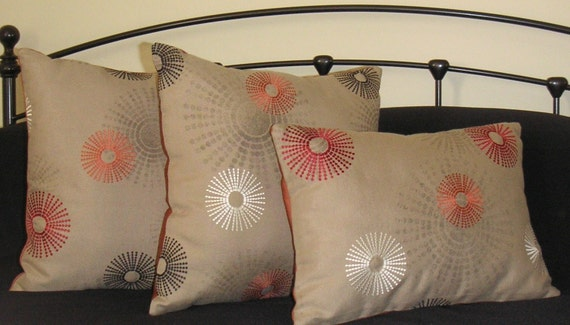 Pillow Set - Mod and Marvelous Set of Three - Polyfill Inserts Included