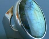 bold labradorite ring