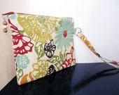 Spring Floral Wristlet by Christa Elle
