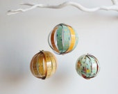 3 LAMINATED patterned  paper globe ornament-  BACK TO SCHOOL  ETSYITALIATEAM CHALLENGE