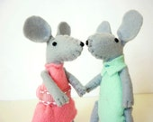 Mouse plush mint in matchbox
