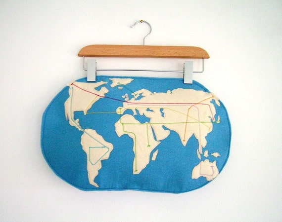 Made To Order Metro map pillow with your own map