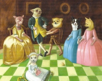 Chihuahua Family Print on Paper / Ilona Cutts