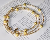 Eyeglass Chain of Dazzling Silver and Gold Interchangeable