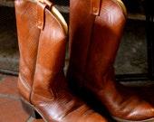 HAITI - Vintage 80s Unisex Leather Boots