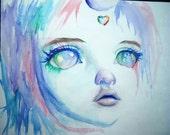 Colorful Unicorn - Tiny Soom BJD Beyla portrait - 8x10