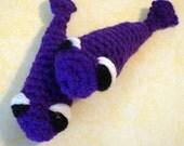 2 Jingly Soggy Sardines Catnip Toy In Purple