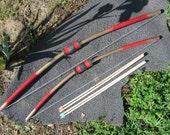 1 lg, 1 sm bow & arrows