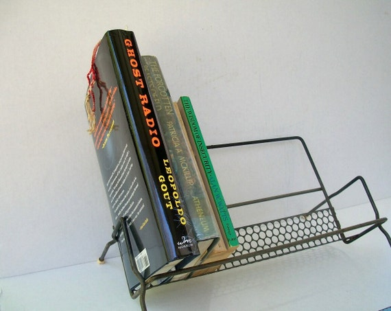 Vintage Storage Rack For Books CDs DVDs Records Mid Century Distressed 1960s