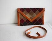 vintage patchwork suede purse