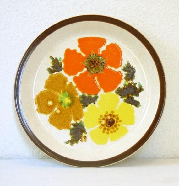 vintage flowered Doverstone stoneware plate