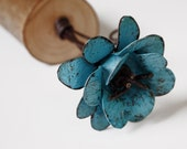 Boho Chic Turquoise Flower 3d Metal Rose Teal Green Rustic Home Decor