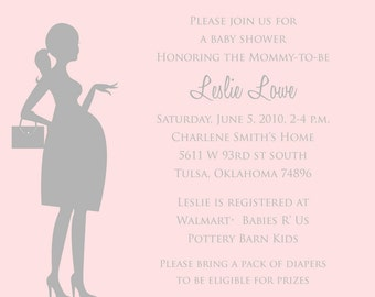 Print Your Own Modern, Chic Baby Shower Invitation