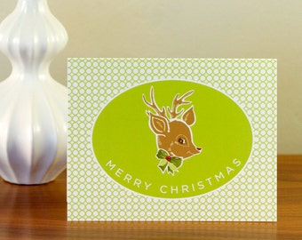 CLEARANCE - Rudolph Christmas Cards - Cool Vintage-Inspired Greetings