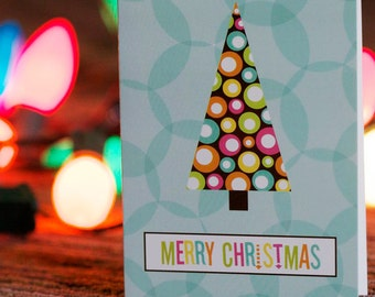 Mid Century Holiday Greeting Cards - Retro Christmas Tree - Simon