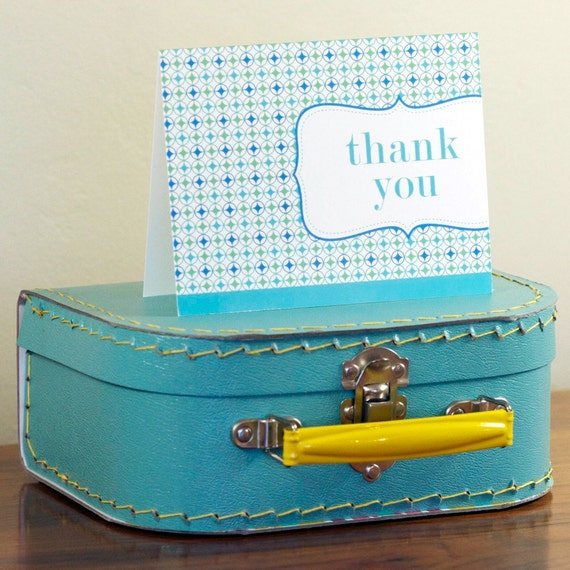 Vintage Candy Shop Thank You Cards in Beach Blue Curacao
