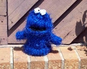 Large Cookie Monster Style Hand Puppet