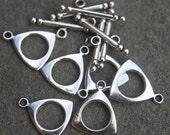 Toggle clasps 6 sets Tibetan silver