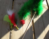 Tweet Teaser Feather Cat Toy Santa Paws Christmas Mix