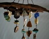 Sea Glass and Sea Shell Wall Hanging