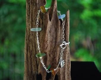 Sea Glass connection bracelet
