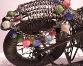 Rainbow charm beads bracelet