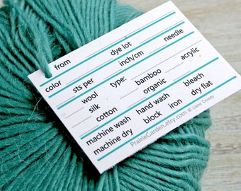pdf Yarn Tags in light and bright tones print at home