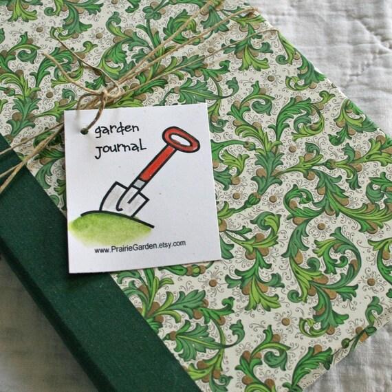 Garden Journal Essentials with Green Florentine Cover