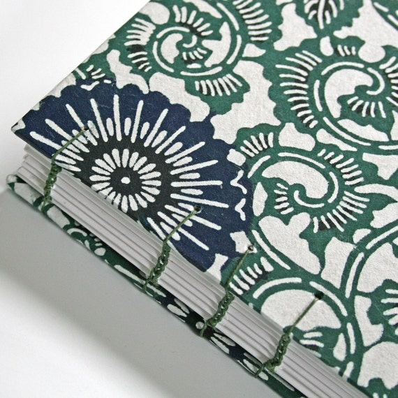 Garden Vine in Blue and Green Small Book - Available to Ship Now