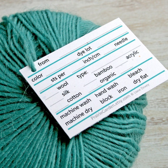 Yarn Tags in light and bright tones printed for you