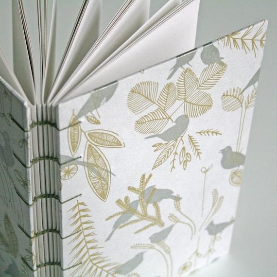 Silver Birds Handmade Book