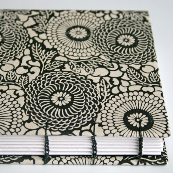 Black and Cream Mums Handmade Book - Available to Ship Now