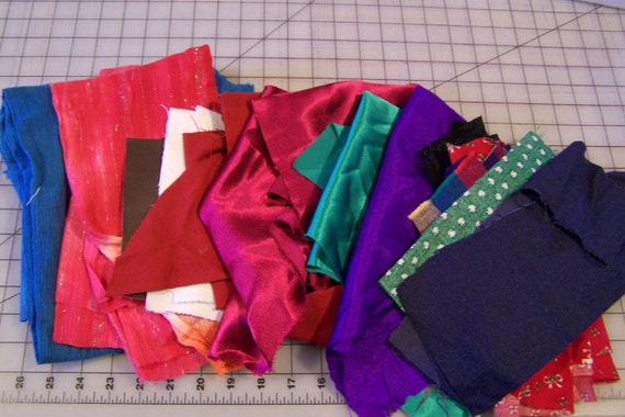 Gauze and Satin and Cotton Remnants