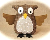 Oakley Owl With Rattle - A Soft Friend For You - RESERVED FOR ELISHA