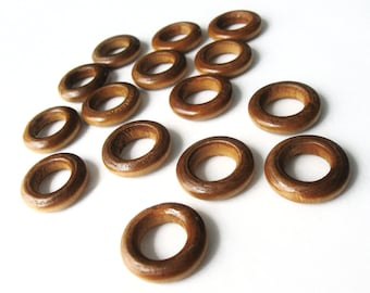 Wood Beads, Rondelle, No Hole, BurlyWood, 20mm in diameter, 5mm thick, Set of 15  (PB231)