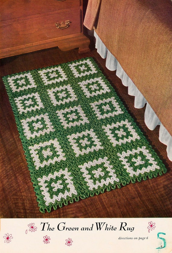 Crocheting Rugs Book : Crochet rug pattern PDF pattern booklet from the original Star Book 93 ...