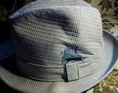 blue plaid HAT