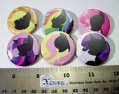 My Little Pony (FIM) Pinback Buttons Friendship is Magic set 1 (6 buttons)