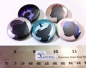 My Little Pony (FIM) Pinback Buttons Friendship is Magic set 6 (5 buttons)