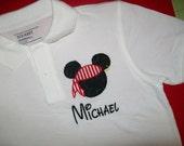 Boys Pirate shirt Mickey Mouse Polo shirt Boys Disney
