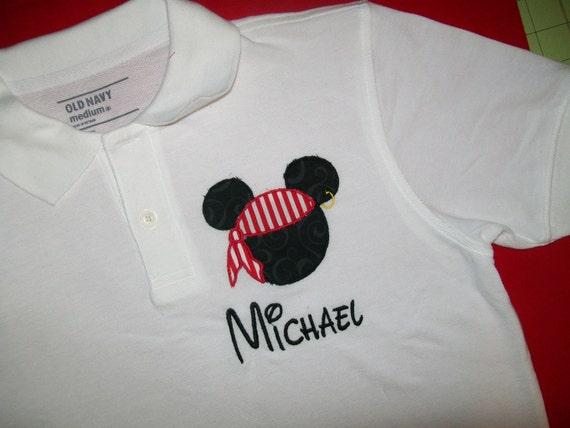 Pirate Mickey Mouse Polo shirt Boys Disney