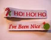 NOW ON SALE was 3.00 Christmas Sayings Hair Clips Barrettes