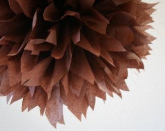 COFFEE / 1 tissue paper pom pom / wedding decoration / nursery poms / birthday party poms / hanging poms / pompoms / tissue pompom / diy