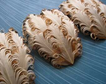 CLEARANCE - SET OF 2 - Imperfect Buttercream Feather Pads -  2.95 ea