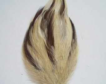 Beige and Brown Hackle Feather Pad