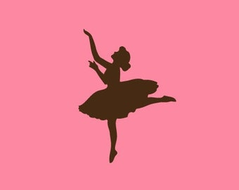 Ballerina Silhouette Stamp   Rubber Stamp   Craft Stamp   A72