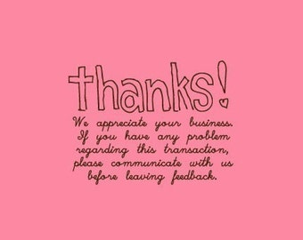 Thank You Stamp   Etsy Seller Stamp   Rubber Stamp   Craft Stamp   A54