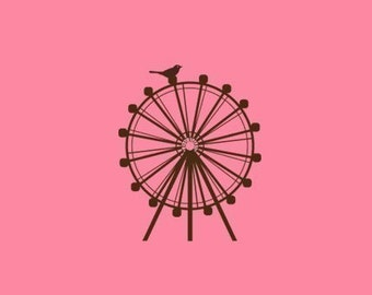 Ferris Wheel Stamp   Rubber Stamp   Craft Stamp   A40
