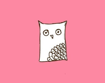 Owl Stamp   Rubber Stamp   Cardmaking   A61
