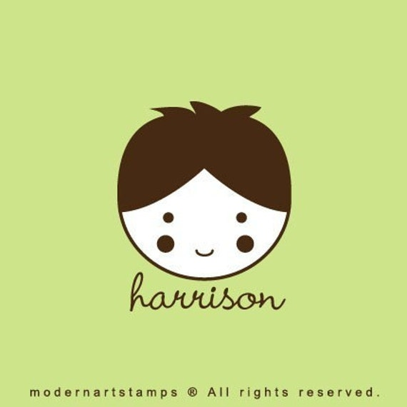 Custom Rubber Stamp   Custom Stamp   Personalized Stamp   Gifts for Him   Boy, Men   Harrison    C88